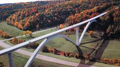 Natchez Trace Bridge, located 5 minutes from our house. Breakfast at The Loveless then a drive on the Natchez Trace to Lieper's Fork.