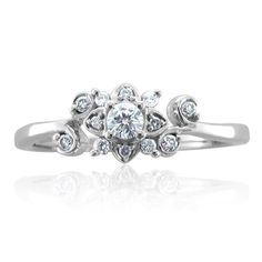 Pretty ring. Shameless bling. (Would want CZ because diamonds are ridiculous)