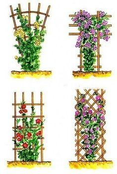 Деревянные опоры для цветов
