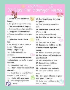 Tips for Younger Moms