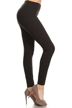 c62c40603792 Leggings Depot Ultra Soft Basic Solid Plain Best SELLER Leggings Pants  (Plus Size (Size