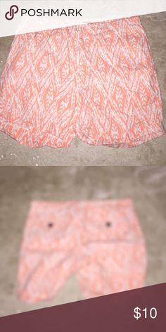 Tribal shorts Orange and white brand new tribal shorts Cynthia Rowley Shorts