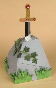 CARD MAKING TEMPLATES FOR SWORD IN THE STONE & DISPLAY BOX