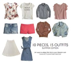 10 Pieces 15 Outfits - Summer Packing 2015