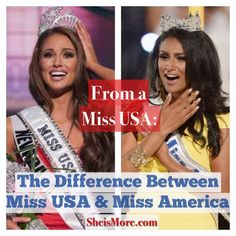 From a Miss USA: The Difference Between Miss America & Miss USA | She is MORE