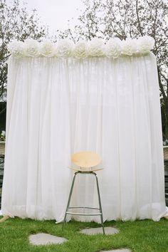 Simple, beautiful wedding background...   ADD diy ♥❤ www.customweddingprintables.com
