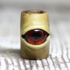 Eye dreadlock dread bead 10mm-12mm by Feythcrafts on Etsy