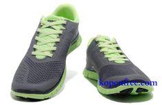 Goedkoop Schoenen Nike Free 4.0 V2 Dames (kleur:vamp-grijs;logo-wit;binnen&zool-groen) Online Winkel.