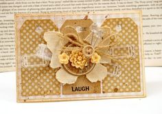 I love the layering on this card created by Julia Stainton.  So pretty!