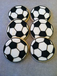 Decorated Soccer Ball Sugar Cookies by SweetTsConfections on Etsy, $36.00