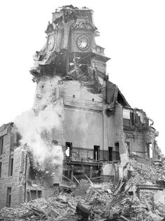 """Fall River's """"old"""" city hall was demolished on Dec. 6, 1962, to make way for Interstate 195 and, later, the new Government Center."""
