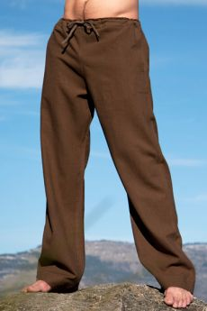Chocolate Linen Riviera Pant LEAD MALE
