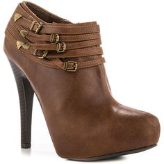 G by Guess Women's Lazer - Med Brown LL ($65) ❤ liked on Polyvore featuring shoes, boots, ankle booties, ankle boots, heels, casual, rounded toe, stiletto heels, women and high heel ankle booties