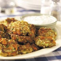 Zucchini Patties with Dill Dip - Changing the Zucchini recipe from a different pin, but definitely using the dip