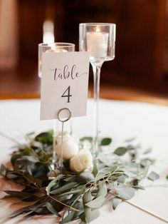 This simple wedding centerpiece idea from the Dusty Blue Georgia Wedding featured on The Budget Savvy Bride is chic and affordable - amanda olivia photography Simple Wedding Centerpieces, Wedding Flower Arrangements, Flower Centerpieces, Flower Decorations, Wedding Decorations, Centerpiece Ideas, Aisle Decorations, Floral Wedding, Fall Wedding