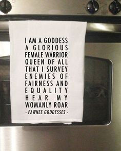 Pawnee Goddesses Decorative Tea Towel by TinyGeekShop on Etsy