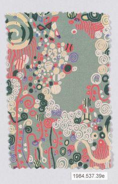 Textile sample Gustav Klimt