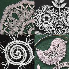 Jedná se firmu sídlící v Německu, která se zabývá prodejem vzorů na paličkování, materiálua dalších potřeb. Nabízejí mimo jiné velmi pěkné drátěné rámečky různých velikostí a tvarů. Byla jsem požádána, abych pro tuto firmu navrhovala – dodala jsem jim několik … Needle Lace, Bobbin Lace, Lace Heart, Lace Jewelry, Lace Design, Lace Detail, Crochet Earrings, Butterfly, Handmade