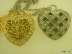 Lot Of 2 Heart Shaped Necklace Watches Elgin, Vivani Free Shipping