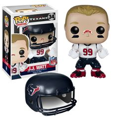 This is a NFL Houston Texans POP J.J. Watt Vinyl Figure that is produced by Funko. It's great to see that Funko has decided to produce NFL players in Funko POP Vinyl form. Recommended Age: 5+ Conditio