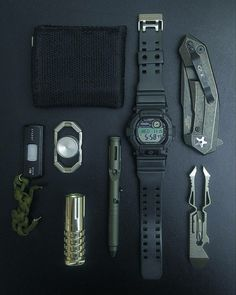 Edc Everyday Carry, Self Defense, Casio, Knives, Weapons, Prepping, Gadgets, Guns, Minimal