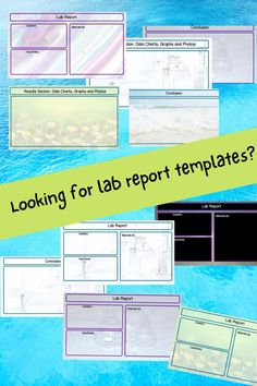 Science Labs, Science Resources, Science Ideas, Middle School Grades, Middle School Science, Lab Report Template, Science Clipart, Science Classroom Decorations, Science Notebooks