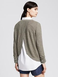 Textured Cross-Back Pullover Product Image