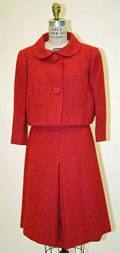 Norman Norell suit; 1961-62. Wool and leather. Gift of Mrs. Beatrice Simpson, 1965. The Metropolitan Museum of Art.