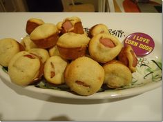 I love corn dogs. Super easy recipe - perfect football party food!