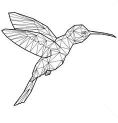 #origami #hummingbird #kolibri #bird #tattoo #ink #art # ... - photo#5