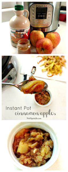 Pot Cinnamon Apples An EASY recipe to make cinnamon apples in the Instant Pot. Three ingredients and just 10 minutes to cook!An EASY recipe to make cinnamon apples in the Instant Pot. Three ingredients and just 10 minutes to cook! Instant Pot Pressure Cooker, Pressure Cooker Recipes, Pressure Cooking, Apple Recipes, Crockpot Recipes, Cooking Recipes, Yummy Recipes, Delicious Desserts, Vegan Recipes
