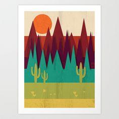 Arizona+Art+Print+by+Kakel+-+$16.00