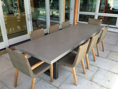 Outdoor Concrete Patio Table by Trueform Concrete