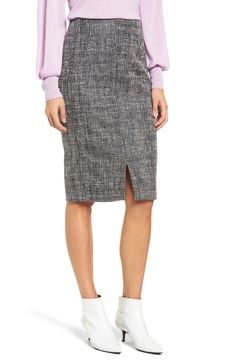 e68985d6ff1 Free shipping and returns on Halogen® Tweed Slit Front Pencil Skirt  (Regular  amp