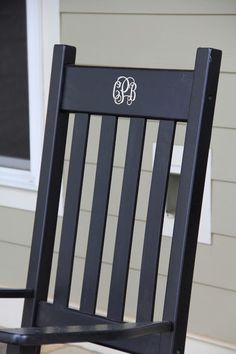 Monogrammed rocking chairs - Too cute for the front porch :)