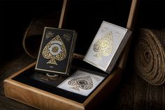 Artisan Playing Cards - Collectors Box and thousands more of the very best toys at Fat Brain Toys. More than just playing cards. They are a work of art. Artisan Playing Cards are true luxury. Admire the loveliness of intrica. Cool Playing Cards, Custom Playing Cards, Perfect Wedding Presents, Great Wedding Gifts, Card Companies, Branding, Brand Identity, Deck Of Cards, Card Deck