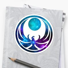 The Nightingale symbol (TESV Skyrim) in a galaxy/nebula print • Also buy this artwork on stickers, apparel, phone cases, and more.