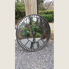 Belle Maison Large Iron Steeple Clock With Mirror Face