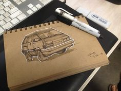 Some vehicle sketches on Art Center Gallery