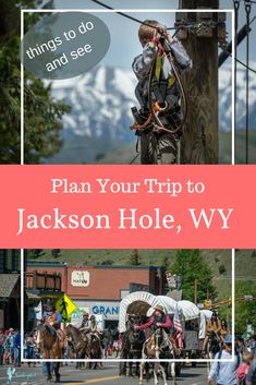 Everything you need to know to plan a trip to Jackson, Wyoming, including: things to do in Jackson Hole, Wyoming; and Jackson Hole Mountain Resort. Plus a two and three day Jackson Hole itinerary. Wyoming Vacation, Yellowstone Vacation, Tennessee Vacation, Jackson Hole Mountain Resort, Alaska Travel, Alaska Cruise, Usa Travel, Jackson Hole Wyoming, Us Travel Destinations