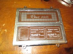 ROWE AMI MM5 45 RECORD JUKEBOX  PRICING CARD COMPLETE DISPLAY ASSEMBLY, GUC #ROWE