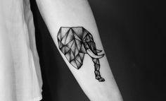 Geometric elephant head dotwork Campinas/SP - Brazil - Los Almeidas Tattoo Stúdio Tattoo artist : IG @brunoalmeida.art