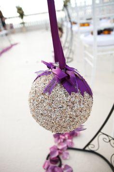 #POMANDER #KISSING BALLS, 4 #BEACH WEDDING #Sea Shell, Beach Destination Wedding. $220.00, via Etsy.