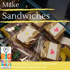 Fight poverty: make sandwhiches for a shelter with your family. Project details from DoingGoodTogether.org