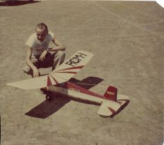 Dad's radio control model, around 1950. This model was the first successful radio control airplane to fly in Colorado.