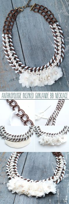 2942e53d7265be Anthro Inspired Guirlande Bib Necklace Crochet Collar, Crochet Bib, Crochet  Scarves, Diy Jewelry