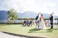 Outdoor wedding ceremony in September <3  Wedding Dress: BHLDN Penelope Gown Rustic DIY Wedding