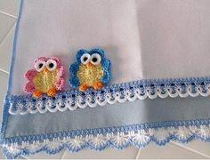 baykuş motifli dantel işlemeli kumaşlar