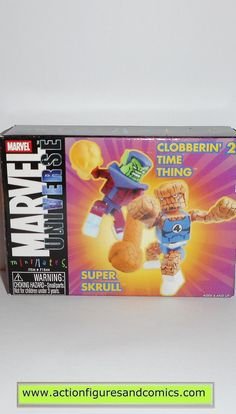 minimates THING Clobberin time SUPER SKRULL marvel universe fantastic four 4 action figures moc mip mib