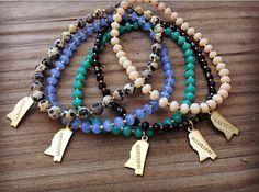 Tiny Mississippi charm bracelets by TheHippieHutch on Etsy